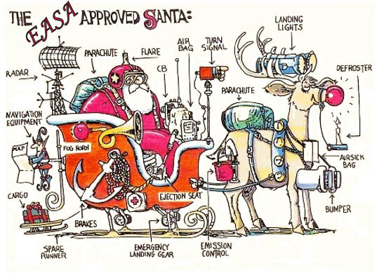 EASA approved Santa Claus
